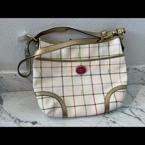 UNUSED Coach Peyton Tattersall Convertible Hobo